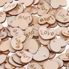 dã coration mariage discount pas cher 200 pcs sac rustique en bois ferraille mini amour coeur