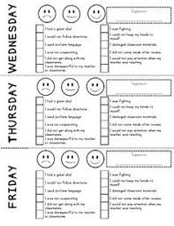 daily behavior report template weekly behavior report template pdf drive education