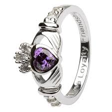 rings with love images Ladies birthstone silver claddagh ring ls sl90 2 jpg