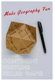 what to write on a paper fortune teller let s play continent fortune teller mommymaleta do you remember playing with these origami fortune tellers as a kid with a few