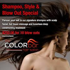 promotions the color bar hair salon