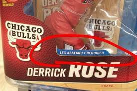 Derrick Rose Meme - action figure unintentionally trolls derrick rose with leg