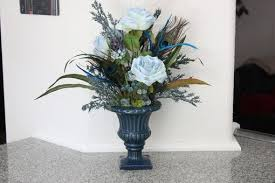 Silk Flower Arrangements For Dining Room Table Handmade Silk Flower Arrangement Home Office Decor Dining Room