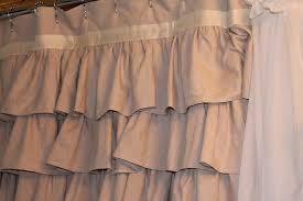 Brown Ruffle Shower Curtain by Khaki Ruffle Shower Curtain U2022 Shower Curtain Ideas