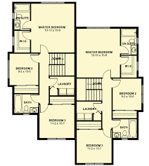 House Plans Small Lot Duplex House Plan For The Small Narrow Lot 67718mg
