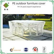 Patio Furniture Cover by Clear Plastic Pe Outdoor Furniture Covers Reach Standard Buy