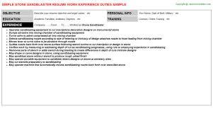 Paraprofessional Resume Sample Stone Sandblaster Resume Sample