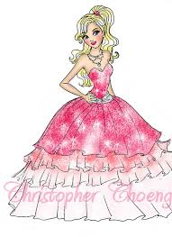 barbie fashion fairytale coloring pages printable information