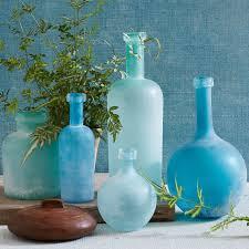 Turquoise Glass Vase Waterscape Vases West Elm
