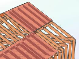 how to plumb a new house how to frame a roof with pictures wikihow