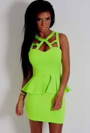 neon green dress naf dresses