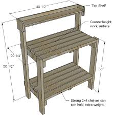 Outdoor Table Plans Free by Ana White Build A Simple Potting Bench Free And Easy Diy