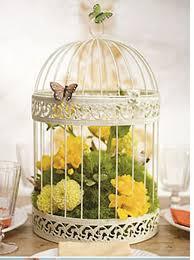 birdcage idea flowers butterflies birdcages
