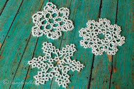tatted lace ornaments
