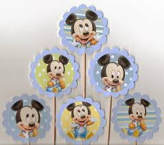 baby mickey mouse cupcake toppers set of 12 disney birthday or