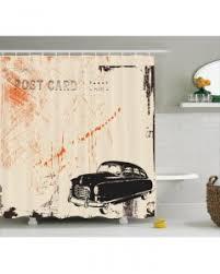 Vintage Shower Curtain Motor Sports