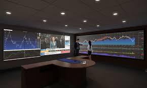 conceptual bank war room architectural 3d rendering
