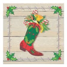 cowboy christmas invitations u0026 announcements zazzle