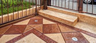 Stamped Concrete Patio Diy How To Recolor Stamped Concrete Patios That Faded Doityourself Com