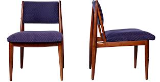 mid century walnut dining chairs by henredon usa chairish