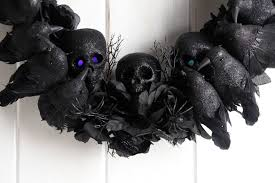 Black Halloween Wreath Halloween Wreath Skulls And A Murder Of Crows U2013 The Swearing