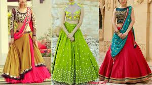top beautiful lehenga designs half saree designs