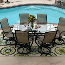 Patio Table Glass Top Patio Ideas Patio Glass Table Parts Acadia 7 Piece Sling Dining