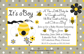 bee baby shower ideas template bumble bee baby shower invitations