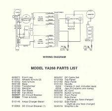 snap on model ya268 parts list wiring diagram schematic