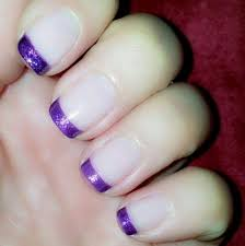 best 25 purple french manicure ideas only on pinterest french