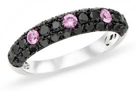 Black And Pink Wedding Rings by Black And Pink Diamond Wedding Rings The Wedding Specialiststhe