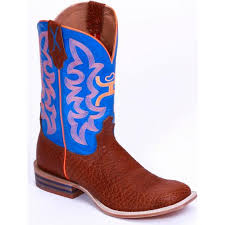 twisted x s boots twisted x s hooey cowboy boots cognac bull hide with neon blue