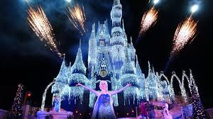 How Long Does Disney Keep Christmas Decorations Up A Frozen Holiday Wish Walt Disney World Castle Lighting Show Magic