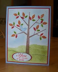 fall winter catalog cards season of friendship tree card