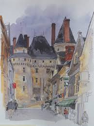 painting by fabrice moireau sketchbook places and buildings