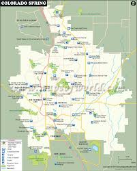 Colorado On The Us Map by Colorado Springs Map Map Of Colorado Springs Colorado