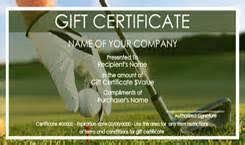 golf gift certificate template free download resume sample for