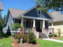 bungalow house plans with front porch ranch craftsman floorplan brick porch columns black shutters 4