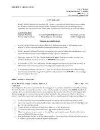 resume of financial controller sample financial controller resume financial controller cv sample