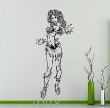 aliexpress com buy poison ivy sticker wall decor dc marvel