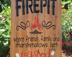 Firepit Signs Pit Signage Pit Sign Etsyelegant Pit Signs Firepit