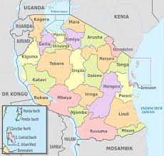 Map Of Tanzania Africa by Regions Of Tanzania Wikipedia