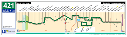 ratp route maps for paris bus lines 420 through to 429