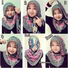 tutorial hijab segitiga paris simple memakai jilbab paris terbaru modern