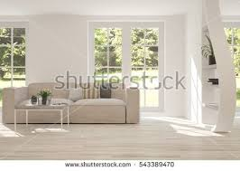 White Room Sofa Scandinavian Interior Design Stock Illustration - Interior design sofa