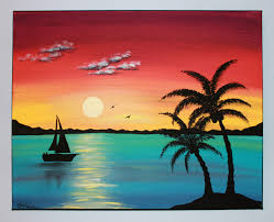 paintings to paint original acrylic painting canvas paradise от picturesquefolkart