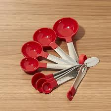 set of 8 measuring spoons crate and barrel