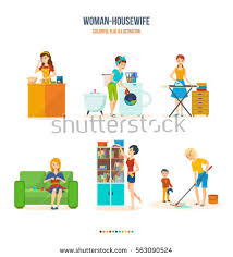 furniture in the kitchen kitchen furniture bathroom ironing stock vector