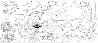 sea sharks underwater scene coloring pages magnificent sea