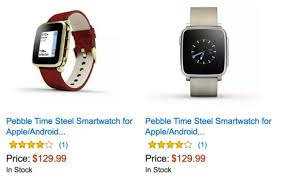 amazon black friday 129 aus deal save 120 on pebble time steel smartwatches just 129 99